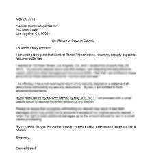 dandy security deposit return letter u2013 letter format writing