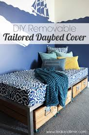 How To Make A Slipcover For A Couch Diy Removable Tailored Daybed Cover U0026 A Favorite Fabric Source