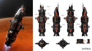 behind the scenes the concept art of the expanse the exterior of the rocinante