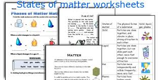 states of matter worksheets worksheets