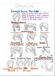 female anime hairstyles for beginners by aikoanime on deviantart
