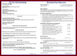 scholarship resume exle gallery of scholarship resume template