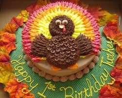 holiday cake idea with turkey for thanksgiving or november