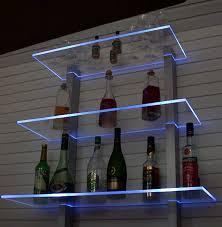 Wohnzimmer Regale Design Design Bar Regal Led Ideal Flaschen Und Gläser Amazon De Küche