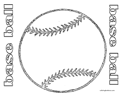 coloring page of bat and ball coloring home
