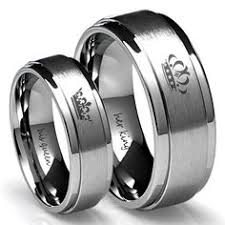 his and wedding ring set black tungsten wedding band set his black rings going to