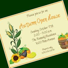 Open House Invitations House Invitations Printable Fall
