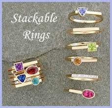 birthstone stackable rings for stackable rings birthstone stacking ring collection