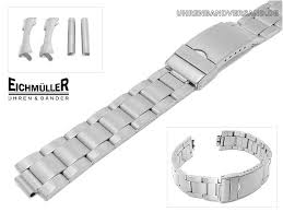 stainless steel bracelet links images Watch band stainless steel 20mm matt straight curved end links jpg