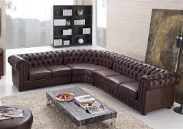Leather Sofas Aberdeen Aberdeen Tufted Leather Sectional Brown Furniture Leather Fmi