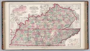 Map Of Tennessee And Kentucky by Kentucky And Tennessee David Rumsey Historical Map Collection