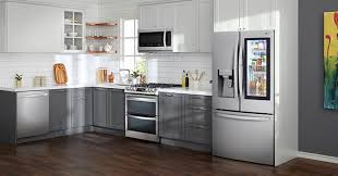 lowes white washed kitchen cabinets lowe s lg appliances refrigerators washers and more