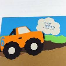 monster truck birthday invitation cut with cricut using