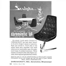 chromcraft table and chairs 1960s aluminium chromcraft sculpta chair re upholstered in black