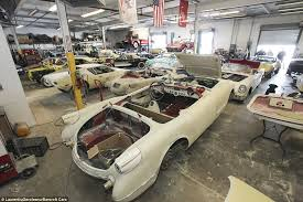 1953 corvette stingray 36 corvettes are found collecting dust in a garage after 25 years