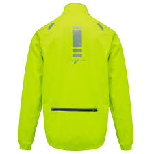 yellow cycling jacket mens cycling jacket windproof splashproof thermal high visibility