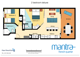bedroom plans bedrooms mantra french quarter two bedroom deluxe modern 2