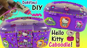 diy hello kitty dohvinci caboodle organize hello kitty stationery