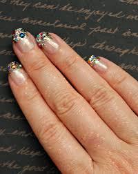 rainbow glitter tip fake nails rainbow glitter french tip nail