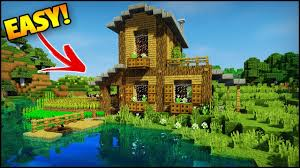 minecraft amazing starter survival house tutorial how to build