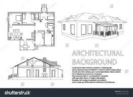 perspective 3d floor plan cross section stock vector 562646326