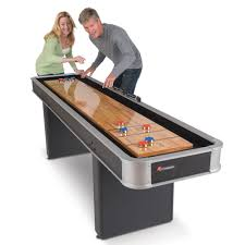 How To Play Table Shuffleboard The Indoor Shuffleboard Table Hammacher Schlemmer