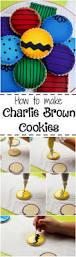 charlie brown cookies charlie brown brown and snoopy