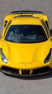 cars ferrari download 750x1334 cars ferrari 488 gtb yellow birdview