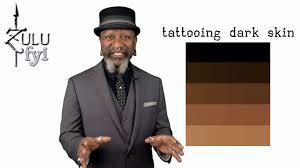 tattooing dark skin part 1 youtube