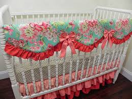 baby crib bedding scalloped crib rail by babybeddingbyjbd