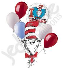 dr seuss balloons dr seuss cat in the hat to read balloon bouquet