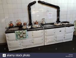 1930s Kitchen Sink Two Aga Cookers Dating To The 1930 U0027s A D Stock Photo Royalty Free