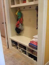 Entryway Storage by Back To With A Backpack Station Closet Into