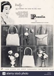 black and white advert for pexella leather handbags in fashion