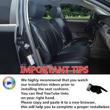 youtube lexus velcro amazon com 120901s black 2 front car seat cover cushions leather