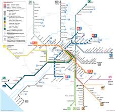 Map Rome Map Of Rome Train Urban Commuter U0026 Suburban Railway Network
