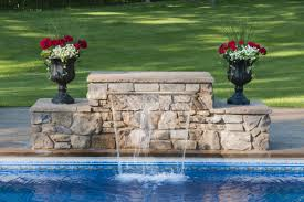 diy pool waterfall how to build a wall with sheer decent waterfall