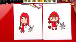 draw red riding hood art kids hub