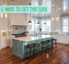 blue kitchen island 5 ways to get this look blue island kitchen kitchens creative