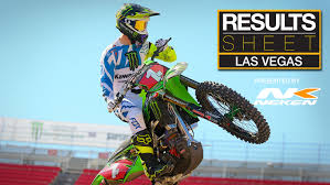 pro motocross results results sheet las vegas supercross motocross feature stories