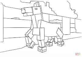 minecraft horse from minecraft coloring page free coloring pages