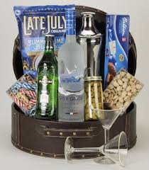 vodka gift baskets grey goose martini basket a beautiful faux leather filled