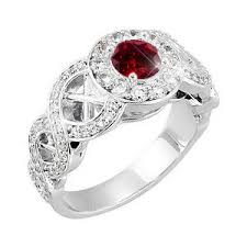 diamond red rings images Created diamonds antique halo engagement 14k white gold ring with jpg