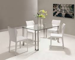 Small Dining Set by Round Glass Dining Table With Metal Base Room Glass Table Chairs
