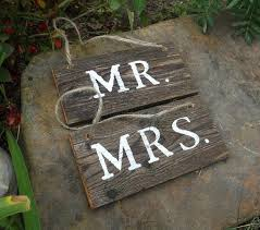 Mr And Mrs Sign For Wedding Mr And Mrs Signs For Wedding Diy Do It Your Self
