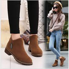 s boots flat s martin boots nubuck leather fashion style flat ankle