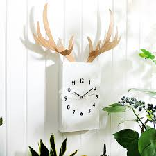 living room wall clock wall clock hanging antler twig decorative living room white