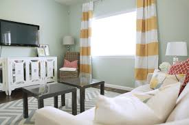 Living Room Curtains For Blue Room Striped Living Room Curtains Zamp Co