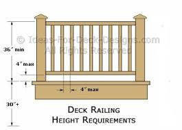 deck railing height diagrams u0026 code tips