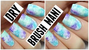 how to dry brush manicure youtube